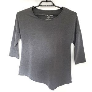 Symple NYC Asymmetrical Gray 3/4 Sleeve Top - S